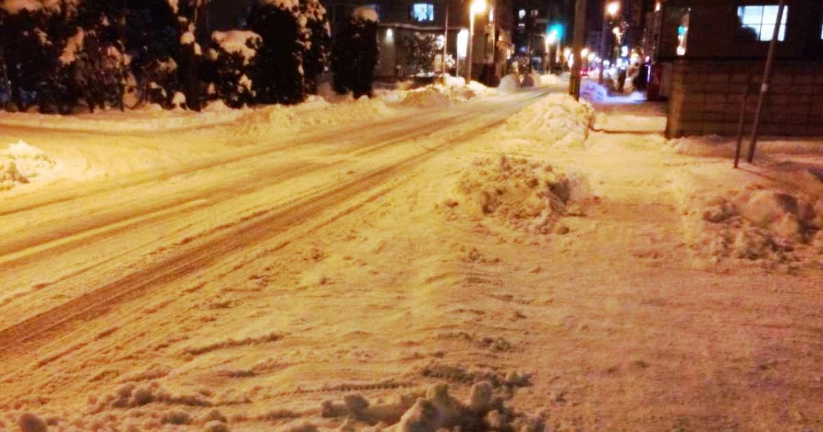 雪道は転倒のリスクが高い