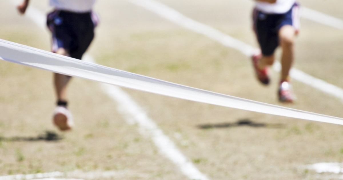小学校の運動会ゴール