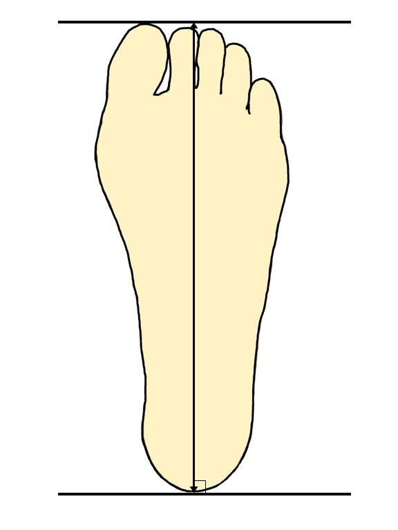 足サイズの測り方